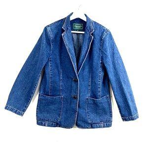 Lauren Ralph Lauren denim blazer Medium jacket LRL